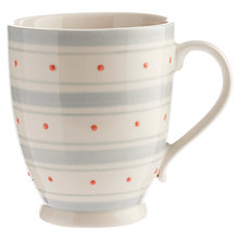 Buy John Lewis Polly's Pantry Footed Mug, Spot & Stripe Online at johnlewis.com
