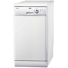 Buy Zanussi ZDS2010 Slimline Dishwasher, White Online at johnlewis.com