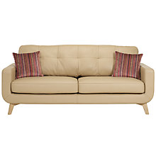 Buy John Lewis Barbican Large Leather Sofa, Prescott Buckskin Online at johnlewis.com