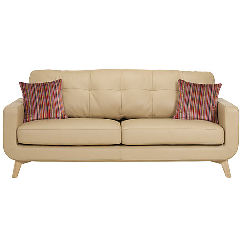 Buy John Lewis Barbican Leather Sofa Range, Prescott Buckskin  Online at johnlewis.com
