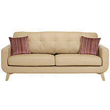 John Lewis Barbican Leather Sofa Range, Prescott Buckskin