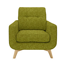 Buy John Lewis Barbican Armchair with Light Legs, Henley Olive Online at johnlewis.com