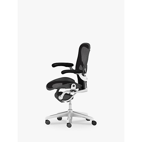 buy herman miller aeron office chair size b polished aluminium
