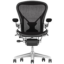 Buy Herman Miller Aeron Office Chair, Polished Aluminium Online at johnlewis.com