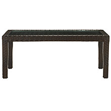Buy John Lewis Amadeus Rectangular Outdoor Coffee Table, Synthetic Wicker, 91 x 56cm Online at johnlewis.com
