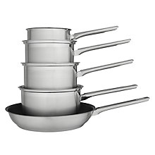 Buy John Lewis Classic II Essential Pan Set, 5 Piece Online at johnlewis.com