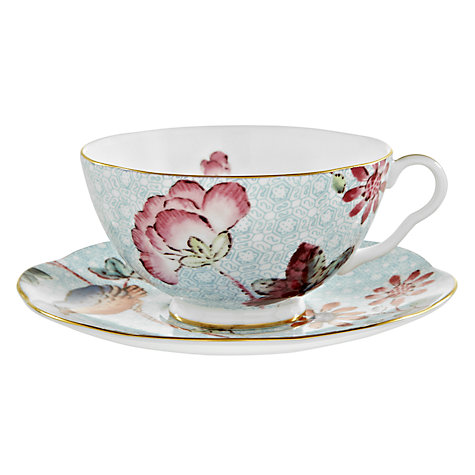 Buy Wedgwood Cuckoo Teacup and Saucer, Blue Online at johnlewis.com