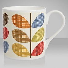 Buy Orla Kiely Scribble Stem Mug, Multi Online at johnlewis.com