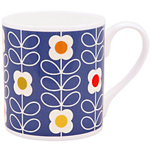 Buy Orla Kiely Linear Flower Mug, Blue Online at johnlewis.com