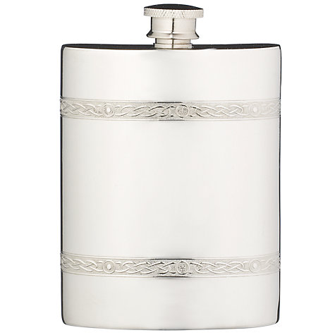 Buy John Lewis Pewter Kidney Celtic Hip Flask Online at johnlewis.com