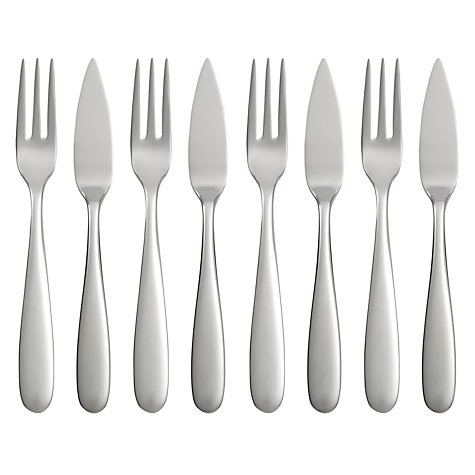 Buy Robert Welch Stanton Bright Cutlery Fish Eaters, Set of 8 Online at johnlewis.com
