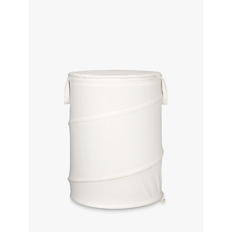 Buy John Lewis Cotton Pop-Up Laundry Hamper, Bone, Small Online at johnlewis.com