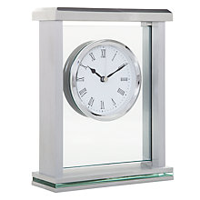 Buy John Lewis Athena Mantel Clock, Silver Online at johnlewis.com