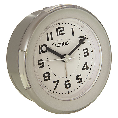 Buy Lorus Flashing Alarm Clock, Silver Online at johnlewis.com