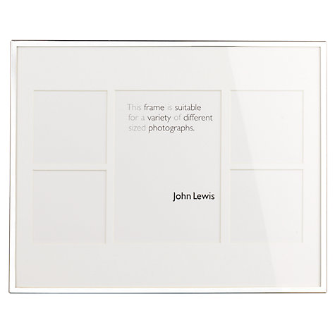 "Buy John Lewis Daya Multi-aperture Frame, 5 Photo, 6 x 8 (15 x 20cm) and 3 x 3"" (8 x 8cm) Online at johnlewis.com"