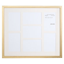 "Buy Salisbury Gold Multi-aperture Frame, 7 Photo, 4 x 6"" (10 x 15cm) Online at johnlewis.com"