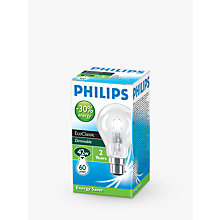 Buy Philips Halogen Classic BC Bulb, Clear, 42W Online at johnlewis.com