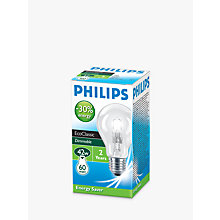 Buy Philips Halogen Classic ES Bulb, Clear, 42W Online at johnlewis.com