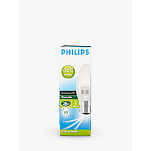 Buy Philips Halogen Classic BC Candle Bulb, Clear, 28W Online at johnlewis.com