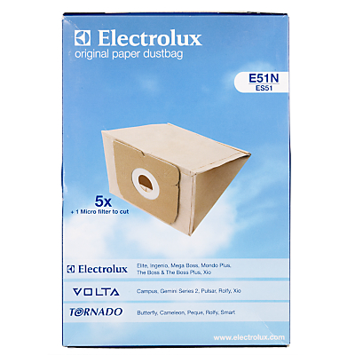 Electrolux E51N Vacuum Cleaner Bags, Pack of 5