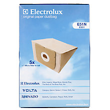 Buy Electrolux E51N Vacuum Cleaner Bags, Pack of 5 Online at johnlewis.com