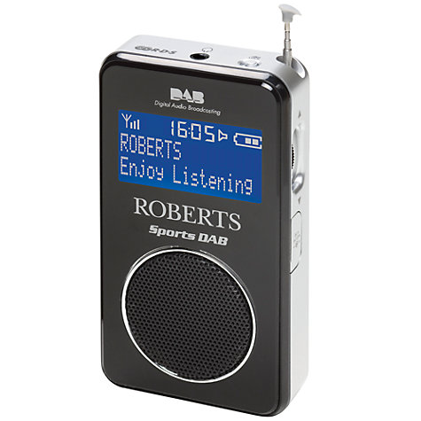 Buy ROBERTS Sports DAB 2 Personal Stereo Radio, Black Online at johnlewis.com