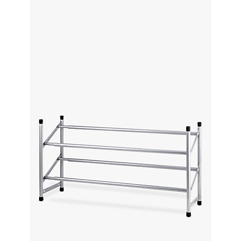 Buy John Lewis 2-Tier Expandable Shoe Rack, Chrome Online at johnlewis.com