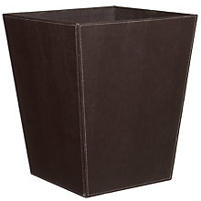 Buy Oscar Faux Leather Wastepaper Basket, Chocolate Online at johnlewis.com