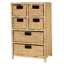 Buy John Lewis Water Hyacinth Storage Unit, 6 Drawer Online at johnlewis.com