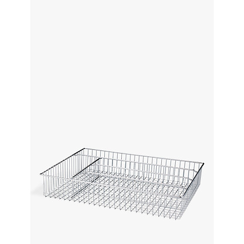 Buy John Lewis Cutlery Tray, Large, Chrome Online at johnlewis.com