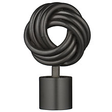Buy John Lewis Black Finish Steel Knot Finial, 25mm Online at johnlewis.com
