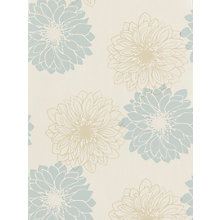 Buy John Lewis Gerbera Wallpaper, Duck Egg Online at johnlewis.com