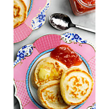 Pikelets with Rhubarb Jam