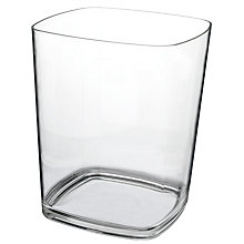 Buy John Lewis The Basics Bin, Clear Online at johnlewis.com