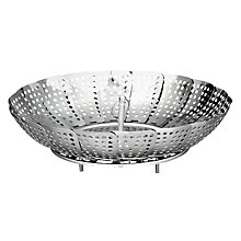 Buy John Lewis Stainless Steel Steamer Basket, 22cm Online at johnlewis.com