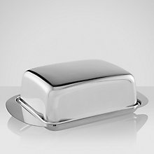 Buy John Lewis Stainless Steel Butter Dish Online at johnlewis.com