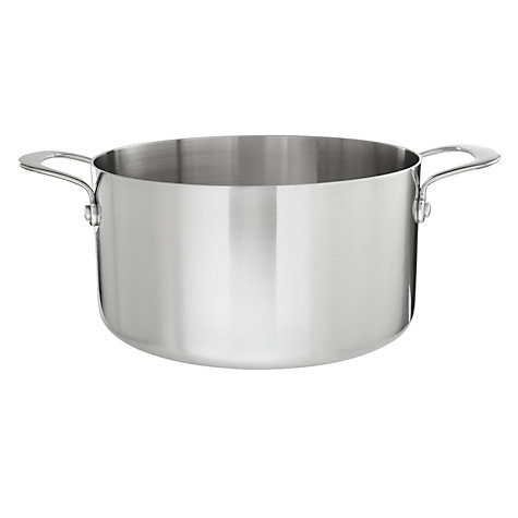 Buy John Lewis 3-Ply Stockpot, 24cm Online at johnlewis.com