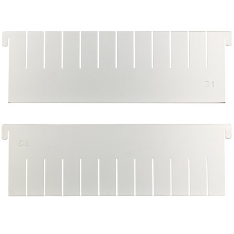 Buy John Lewis Satin Anodised Multisize Cake Tin Dividers, Set of 2 Online at johnlewis.com