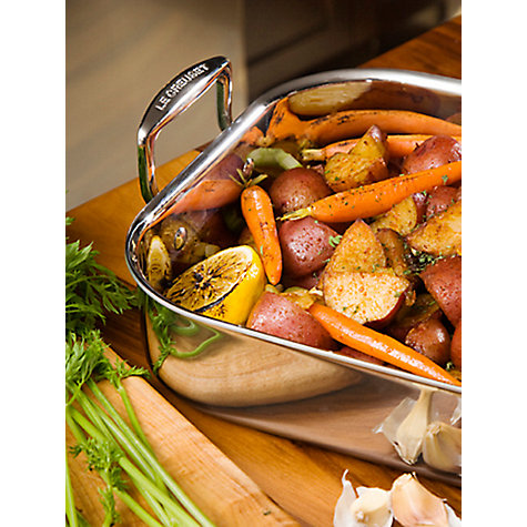 Buy Le Creuset 3-Ply Stainless Steel Roaster, L35 x W25cm Online at johnlewis.com