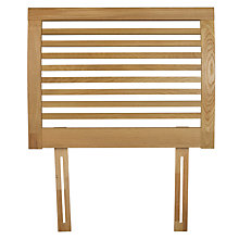 Buy John Lewis Marlow Oak Headboard, Natural, Single Online at johnlewis.com