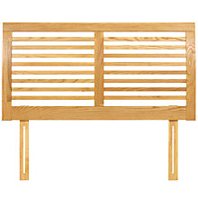 Buy John Lewis Marlow Oak Headboard, Natural, Double Online at johnlewis.com