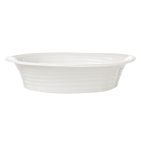 Buy Sophie Conran for Portmeirion Oval Pie Dish, White, L29.5cm Online at johnlewis.com