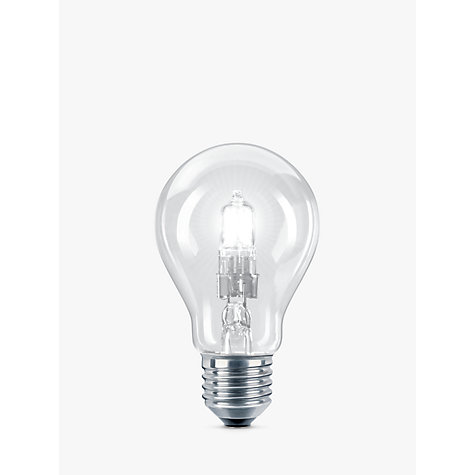 Buy Philips 28W ES Eco Classic Energy Saving Bulb, Clear Online at johnlewis.com