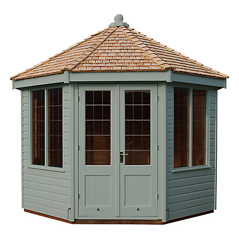 Buy Crane 3 x 3m Round Pavilion Summerhouse, FSC-certified (Scandinavian Redwood) Online at johnlewis.com
