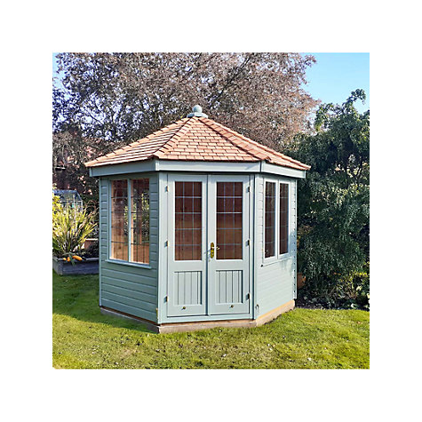 buy crane 3 x 3m round pavilion summerhouse fsc certified scandinavian redwood john lewis. Black Bedroom Furniture Sets. Home Design Ideas