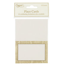 Buy Caspari Gold Moiré Place Cards, Pack of 10 Online at johnlewis.com