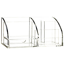 Buy Osco Acrylic Desk Organiser, Large Online at johnlewis.com