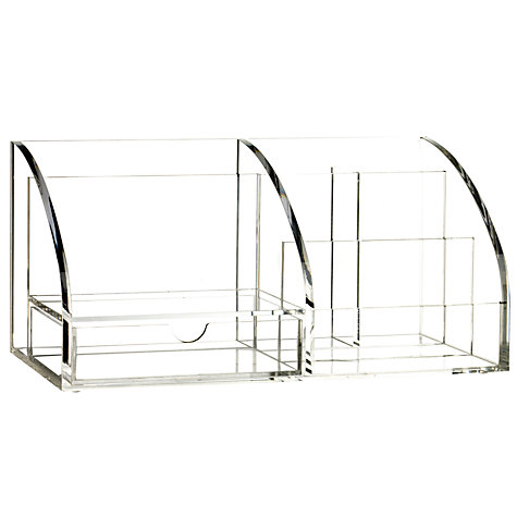 Buy Acrylic Desk Organiser, Large Online at johnlewis.com