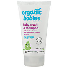 Buy Organic Babies Baby Wash and Shampoo, Lavender, 150ml Online at johnlewis.com