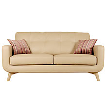 Buy John Lewis Barbican Medium Semi-Aniline Leather Sofa, Prescott Buckskin Online at johnlewis.com